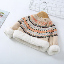Teenster Winter Fleece Warm Sweater Baby Boy Clothes Newborn Girls Tops Thickened Toddler Children Outfits Clothes