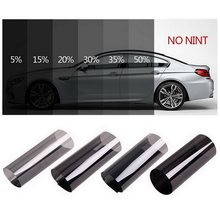 Curtains Car Tinting Car Window Film Glass Solar Protection 5*30cm Dark Black Car Sun Shade For Auto Side Window Car Styling(China)