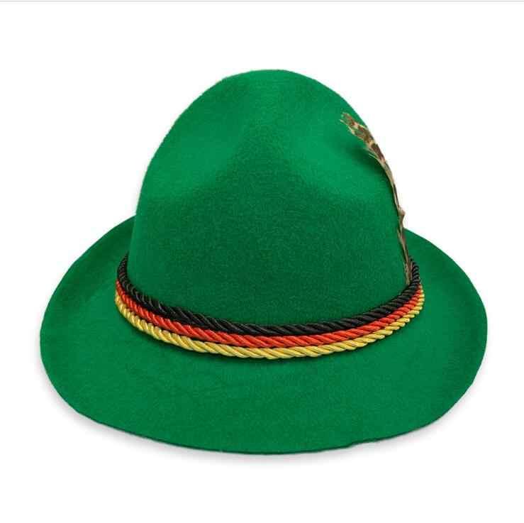 Chapeau Oktoberfest pour adultes   Chapeau bavarois, Costume de bière allemande, chapeau de Cosplay pour Festival de bière allemande, chapeau, plumes, accessoire pour robe fantaisie