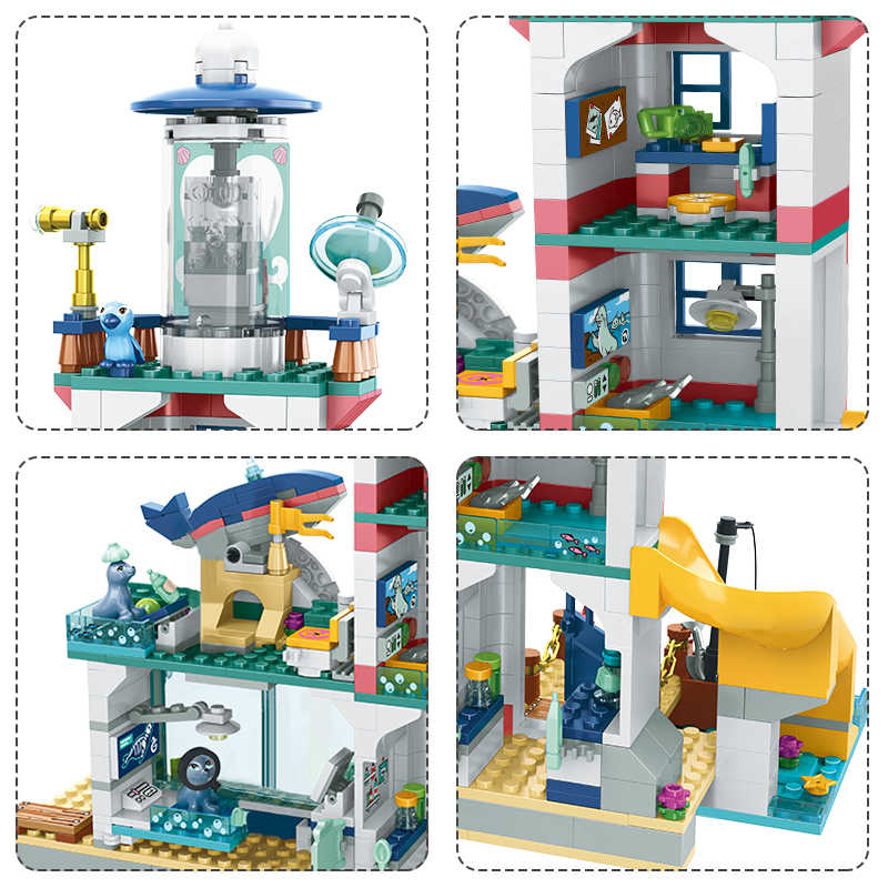 698pcs สาวเพื่อนประภาคาร Rescue Center Building Block เข้ากันได้ Legoinglys เพื่อนอิฐของเล่นสำหรับของเล่นสำหรับเด็ก