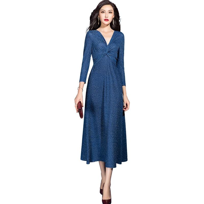 2021 Spring New Casual Cross scollo A V A Line Dress for Women