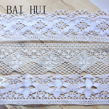 Buy 8cm 2 Yardwhite color Patchwork Cotton Crocheted Lace  Apparel Sewing Fabric Material DIY Handmade Hair Accessories Material directly from merchant!