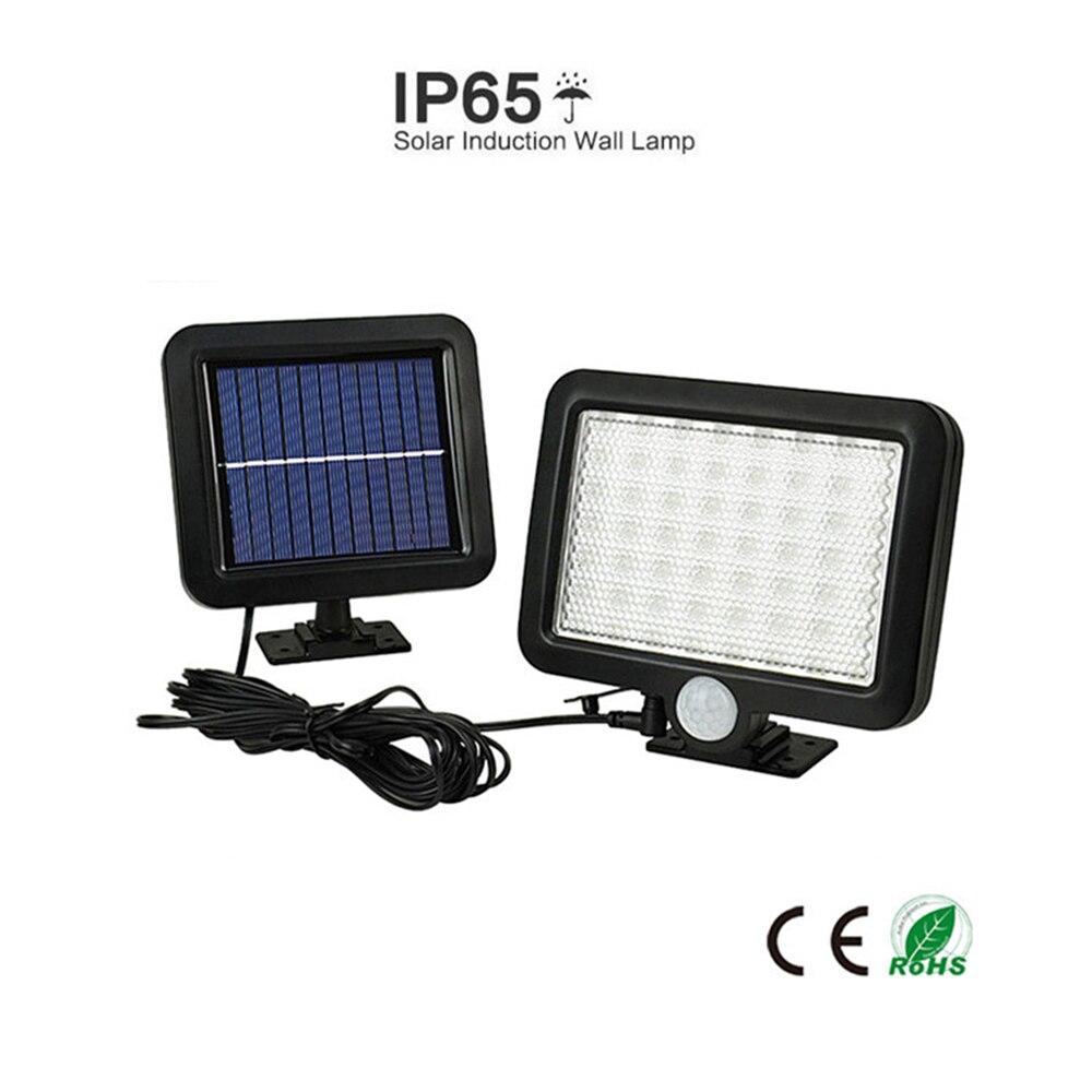 56 LED Solar Powered Motion Sensor Light Security Flood Outdoor Garden Path Lamp