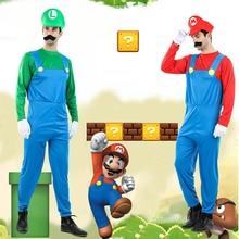 Cosplay Costumes Dress-Up Super-Luigi C1723CH Disfraces Carnival Adultos Men