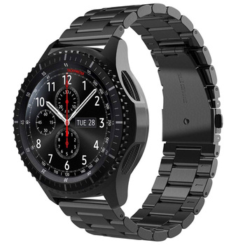 For Samsung Gear S3 Frontier/Classic Band strap Galaxy Watch 46mm Band V-MORO 22mm  Stainless Steel Metal  Bracelet Strap R800 stainless steel strap for samsung galaxy watch band 46mm gear s3 frontier classic straps bracelet 22mm wrist replacement band