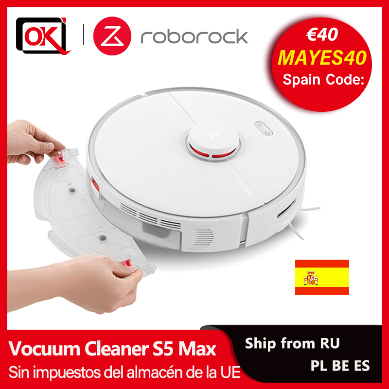 Roborock S5 Max Vacuum Cleaner Robot Super Power Suction Sweep and Mop Wireless Cleaner Battery Capacity for Pet Hair Carpet|Vacuum Cleaners| - AliExpress