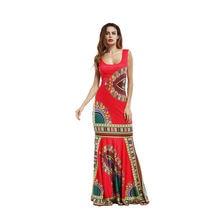 Африканская одежда для женщин Анкара традиционное женское платье