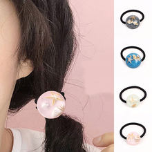 New Style Girls Small Fresh Resin Round Personality Shell Starfish Hair Rope Women Sweet Casual Rubber Band Hair Accessories(China)