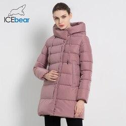 Icebear 2019 Delle Nuove Donne di Inverno Giacca con Cappuccio Moda Femminile Giacca di Cotone di Inverno Cappotti Caldi di Marca Abbigliamento Donna GWD18216I