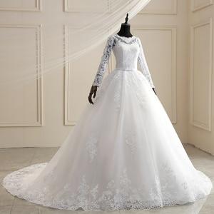 Image 3 - Mrs Winงานแต่งงานชุด2021ใหม่เต็มรูปแบบแขนเสื้อSweep Train Lace Upบอลชุดเจ้าหญิงหรูหราลูกไม้ชุดแต่งงานPlusขนาดชุด