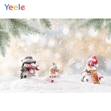 Yeele Christmas Backdrop Winter Snow Tree Snowman Newborn Baby Photography Background For Photo Studio Photobooth Photophone
