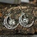 Wiccan Солнцезащитная серьга в форме Луны подарок для женщин праздничные украшения серебряного цвета небесные солнцезащитные хиппи серьги Мо...