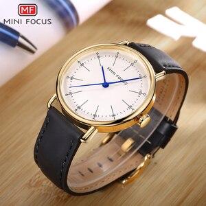 Image 2 - Montres à Quartz hommes 2020 imperméable marque de luxe homme montre classique robe mode décontracté bracelet en cuir véritable MINI FOCUS