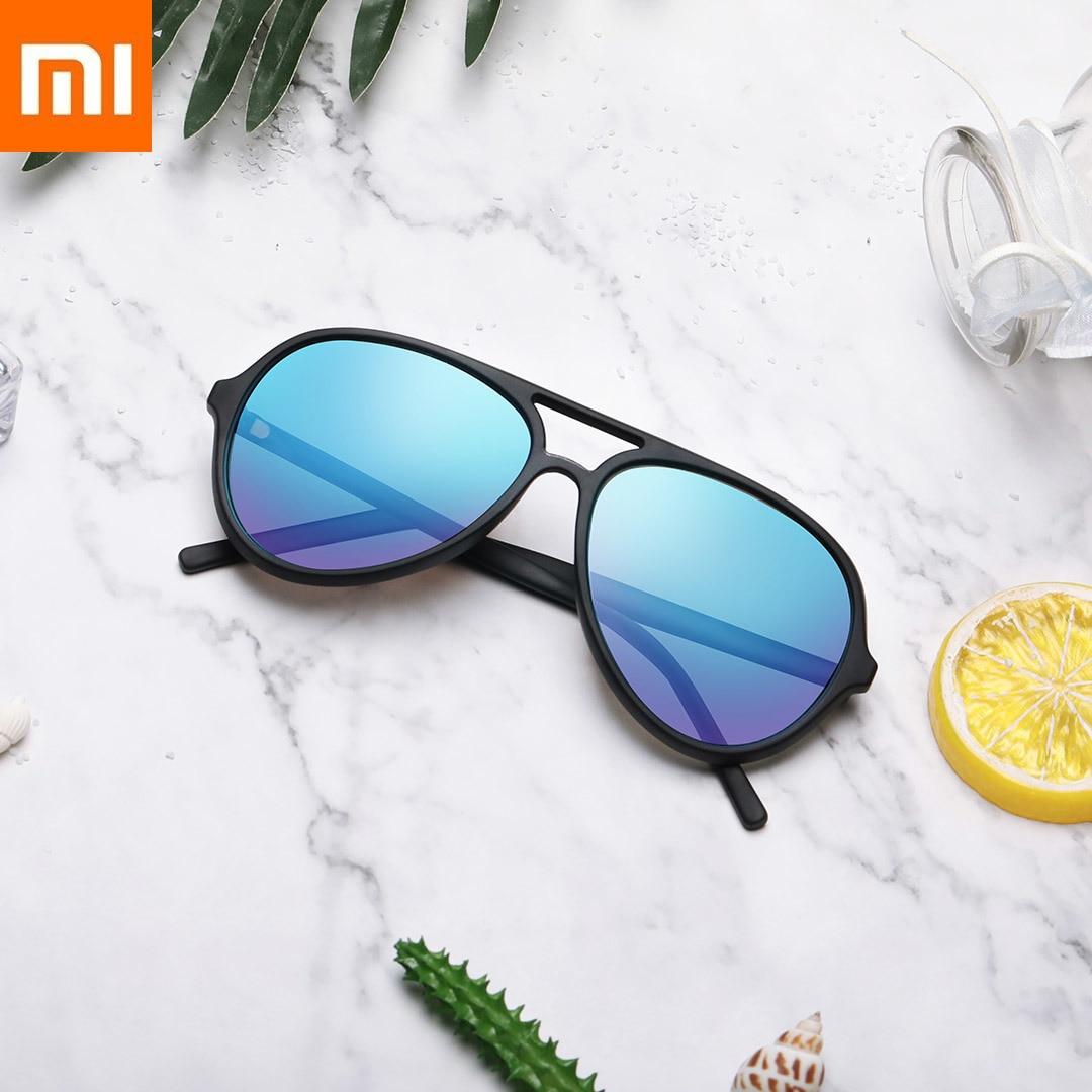 Xiao mi mi JIA mi home Ts lunettes de soleil pilote bleu glace pour cadeau voyage style mode Tac polarisant lentille grand cadre miroir Xio mi mi mi