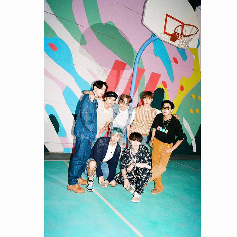 Kpop Bangtan Boys постер новый альбом динамитный постер Настенная Наклейка джимин Цзинь SUGA J-HOPE Поклонники коллекционный подарок