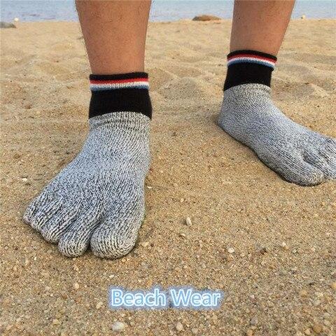 Par de Alta Qualidade Confortável Corte Resistente Meias Não Deslizamento Yoga Caminhadas Correndo Escalada Arefoot 1 5 Toe Mod. 342662