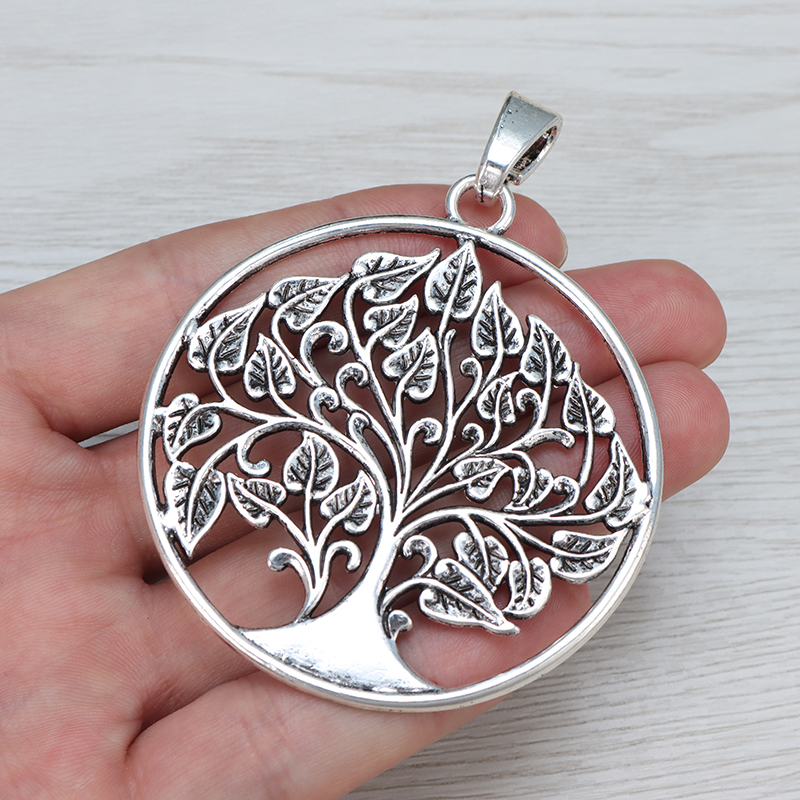 5 Large Leaf Tibetan Silver Tone Charms Pendants For Jewellery Making Findings