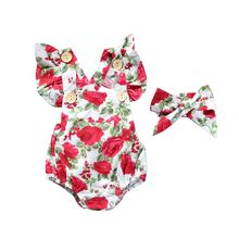 baby Clothing Summer Girls romper floral L01.22
