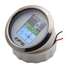 85 мм водонепроницаемый TFT экран цифровой GPS Спидометр Датчик миль/ч узлов км/ч регулируется + GPS антенна для лодки автомобиля мотоцикла одоме...