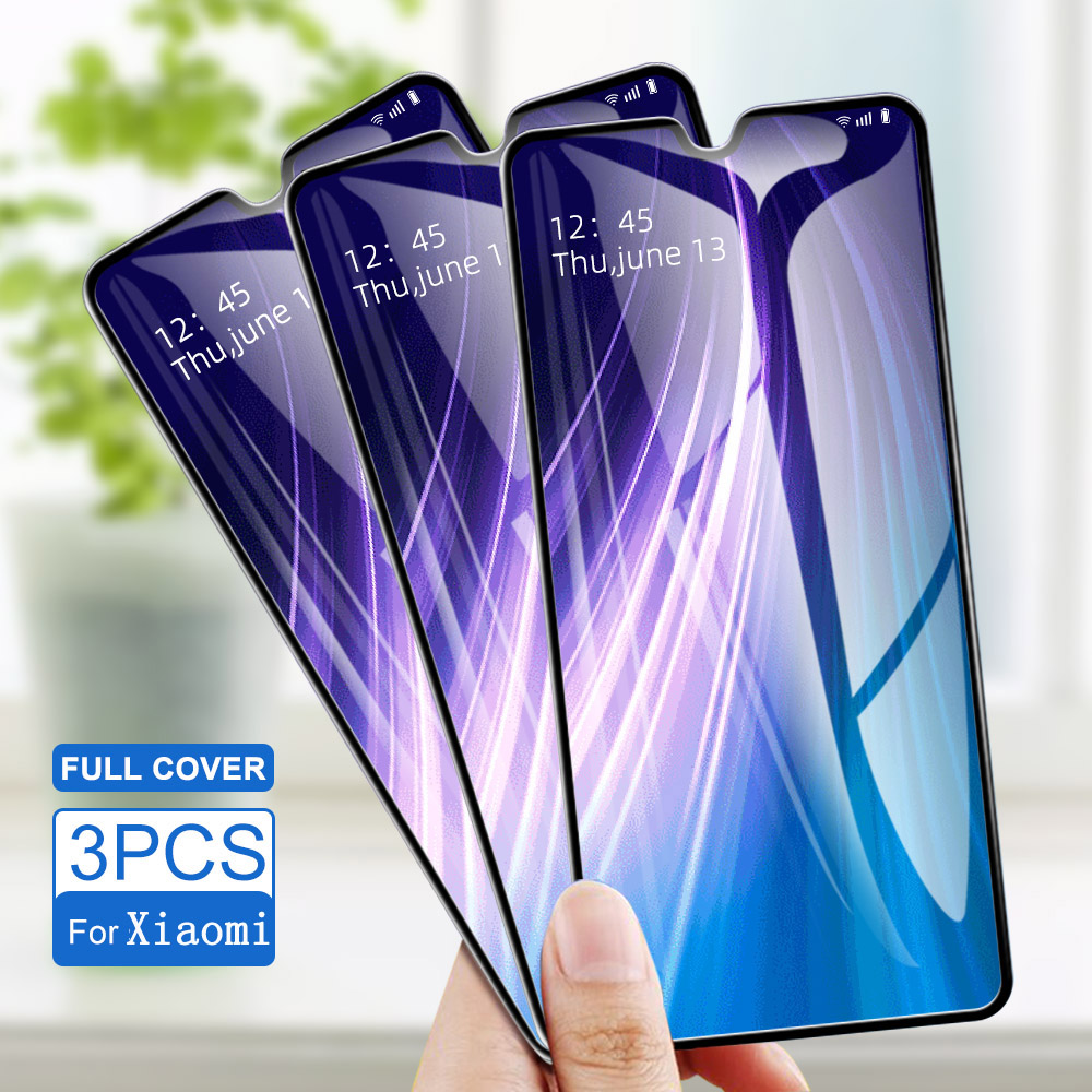 3PCS Tempered Glass For Xiaomi Redmi K20 Pro Note 8 Pro 7 Pro 5 Pro Screen Protector Protective For 5 Plus 4X 6A 5 6 7 Glass