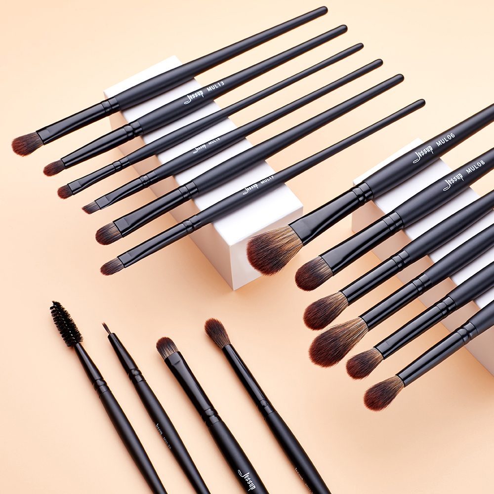 Jessup New Arrival Makeup brushes brushes Phantom Black 3-21pcs Foundation brush Powder Concealer Eyeshadow Synthetic hair 3
