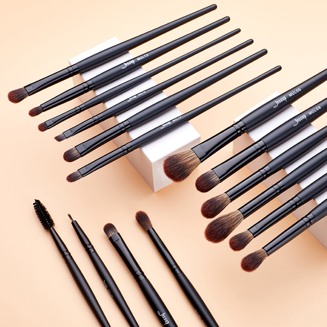 Jessup Makeup brushes brushes Phantom Black 3-21pcs Foundation brush Powder Concealer Eyeshadow Synthetic hair 3