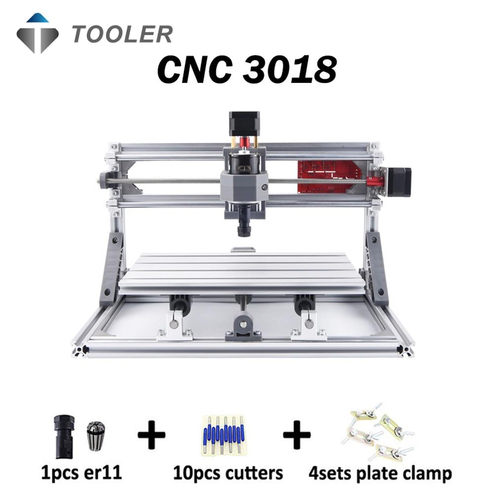 CNC 3018 avec ER11, bricolage mini CNC machine de gravure laser, fraiseuse Pcb, routeur en bois, gravure laser, CNC 3018, meilleur jouet