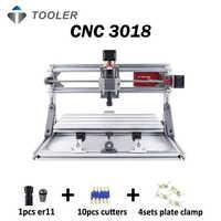 CNC 3018 avec ER11, bricolage mini CNC machine de gravure laser, Pcb fraiseuse, routeur en bois, gravure laser, CNC 3018, meilleur jouet