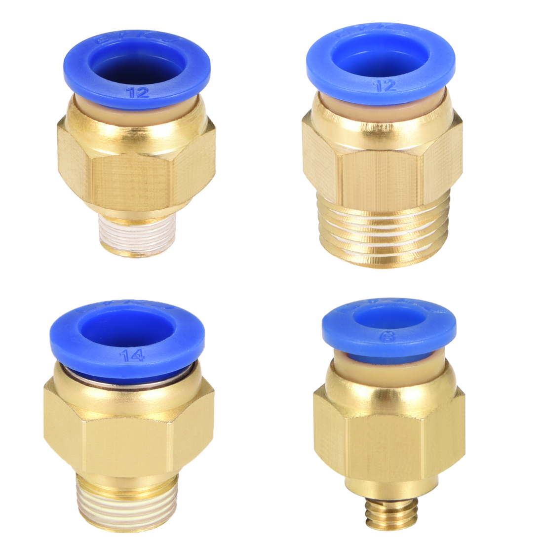 uxcell 5 Pcs Straight 2 Ways Coupler Quick Joint Push in Fittings for 12mm Tube