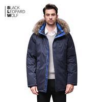 Blackleopardwolf 2019 winter jacket men fashion coat thick parka detachable luxury outwear with fur down jacket men BL 1120M