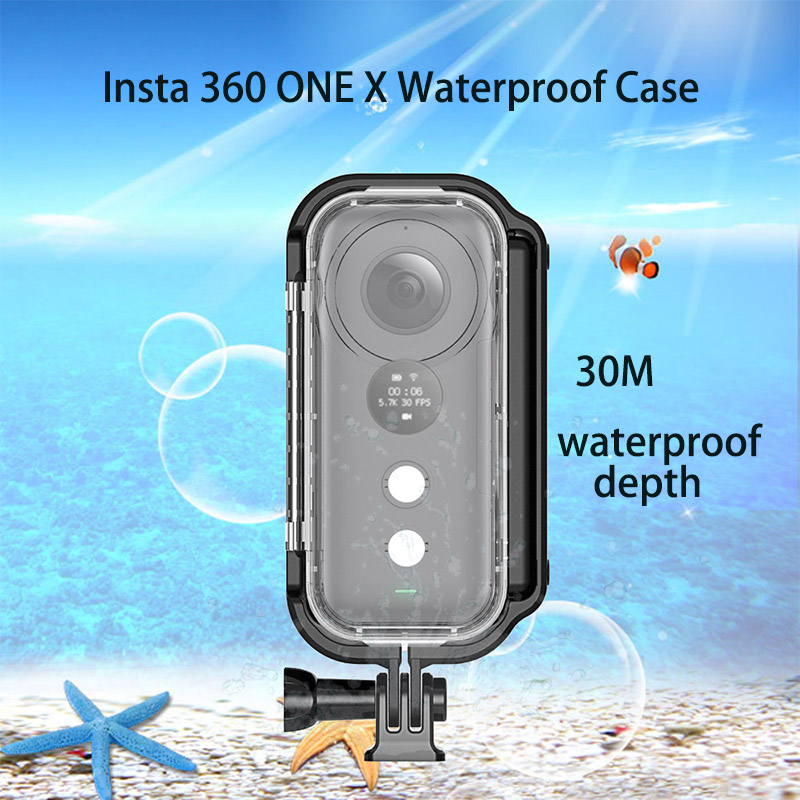 30 Meters Insta360 ONE X Waterproof Housing Shell Venture Case  Diving Protective Case For Insta360 One X Camera Accessories