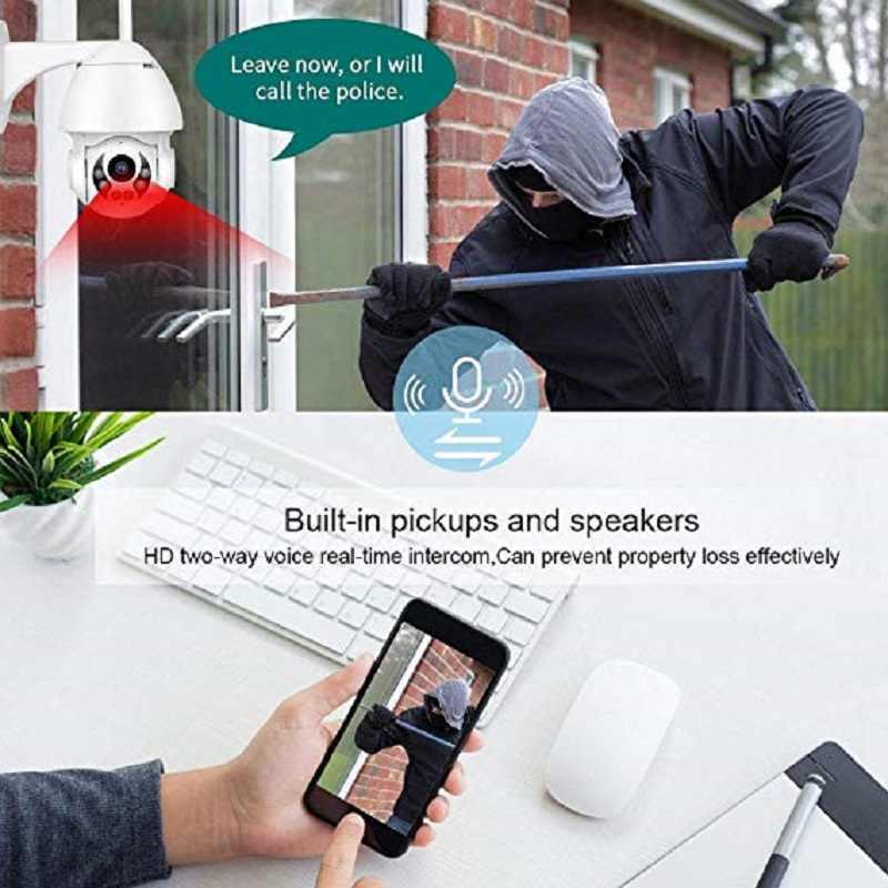 Wdskivi Водонепроницаемая уличная ip-камера 1080P P2P беспроводная Wifi камера PZT Zoon безопасности купольная камера видеонаблюдения умная сигнализация