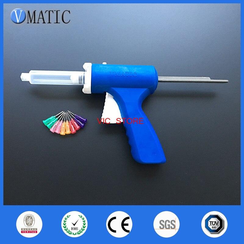 Free Shipping 30cc/ml Manual Syringe Gun Epoxy Adhesive Caulking Gun With Syringe & Needles
