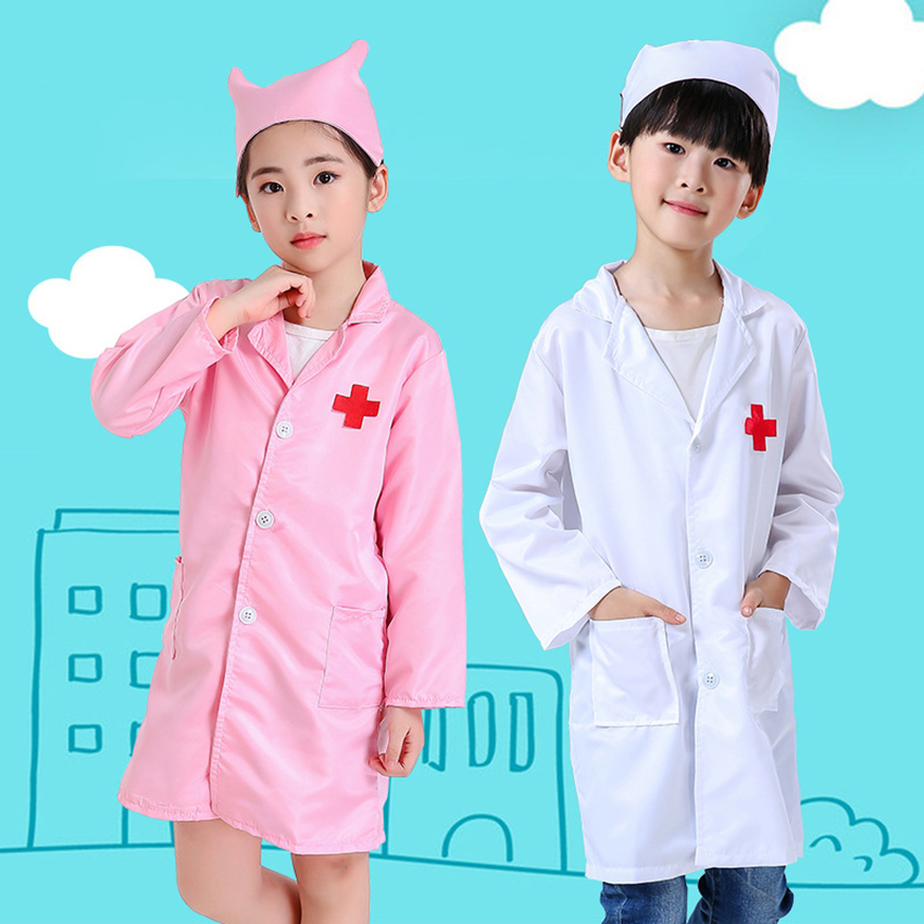 Role Play Medical Cosplay Children's Day Doctor&nurse Uniform Clinic Boy Girl Fantasia Carnival Halloween Costume For Kid Fancy