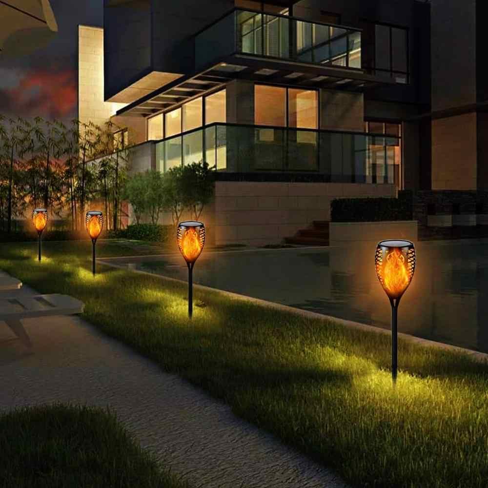 33/96 Led Solar Flame Outdoor Lamp Torch IP65 Veiligheid Waterdichte Flickering Tuin Binnenplaats Decoratie Automatische Landschap Licht