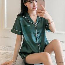 2020 Pajama Sets Silk Pijama Sexy Satin Sleepwear Women Summer Large Size Pyjama Femme Slee