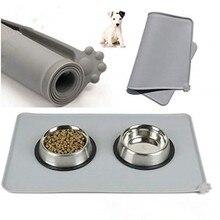 Tapete para animais de estimação, tapete à prova d' água, de silicone, para cães e gatos, tigela de beber, proteção para animais de estimação, fácil lavar roupa