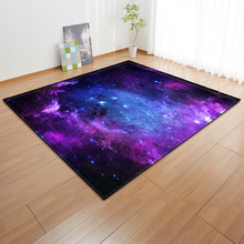 Modern Living Room Carpet Children Tatami Bedroom Mat Sofa Coffee Table Home Hallway Floor Starry Sky Printing Pattern Large Rug