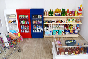 1/12 Scale Pretend Play Miniature Dollhouse Supermarket Store Doll Food Drink Decor Accessories Toy