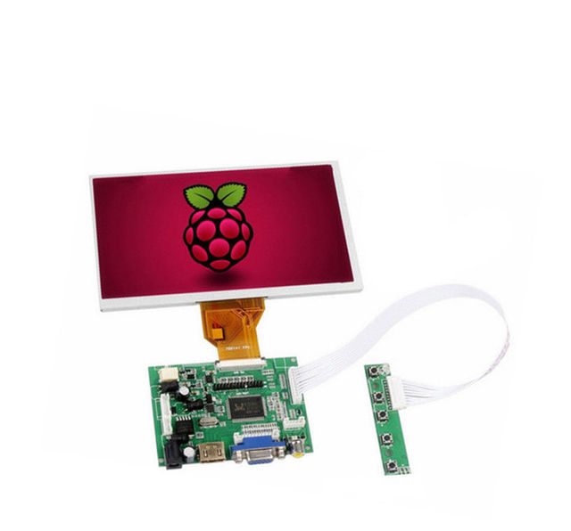 Nuovo 7 pollici 8 pollici 9 pollici TFT LCD Modulo Display Dello Schermo del Monitor con HDMI + VGA + 2AV Driver consiglio per Raspberry Pi