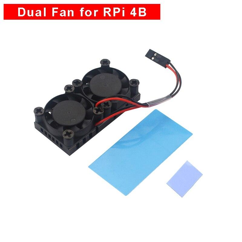 Raspberry Pi 4 Model B Double Cooling Fan Cooler Radiator Dual Fan With Heatsink For RPi 4 4B