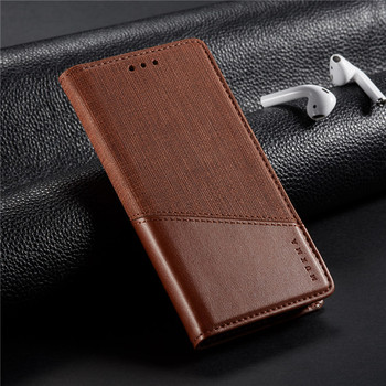 For Asus Zenfone 6 6Z ZS630KL 5 ZE620KL 5Z ZS620KL Max Pro M2 ZB631KL Luxury Spliced Leather Magnetic Closure Flip Cover Case