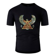 Sunlight Eye Of Horus - Wadjet Gemstone And Gold Tshirt Men Humorous Men's T Shirts O Neck Homme(China)