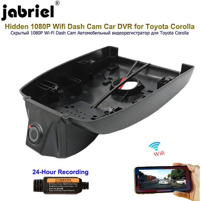Jabriel Hidden Wifi 1080P Dash Cam Car Dvr Car Camera 24 Hour recorder rear camera for Toyota corolla 2016 2017 2018 2019 2020