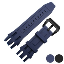 Rubber Silicone bracelet strap 26mm for invicta watch strap waterproof rubber watch belt blue black watch band watch accessories все цены