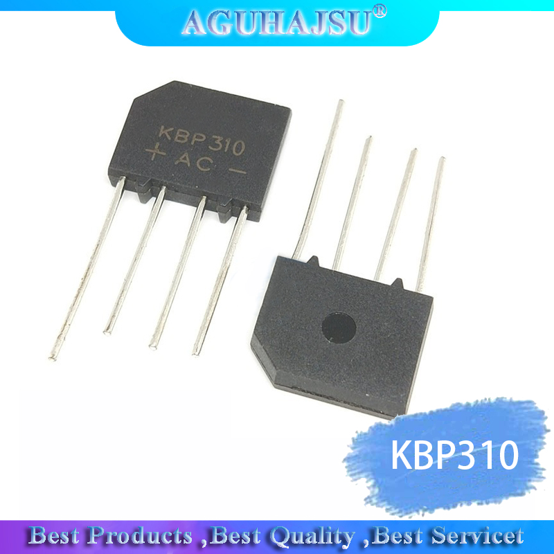 10PCS/Lot IC Chips KBP310 SIP-4 3A 1000V Bridge Rectifier Diode Original Integrated Circuit