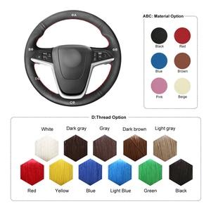 Image 4 - MEWANT Black Artificial Leather Steering Wheel Cover for Opel Mokka Insignia Astra (J) Meriva (B)  Ampera Cascada Zafira Tourer