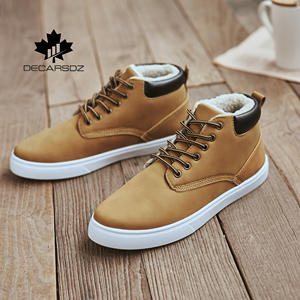 Winter Boots Short Shoes Man Casual-Shoes Classic-Style Plush Men's Fashion for Warm