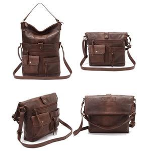 Image 3 - 女性のバッグのショルダーバッグ女の子のためのpuレザーハンドバッグクロスボディはパケットのファッション高品質カジュアルトート 14laptopバッグ