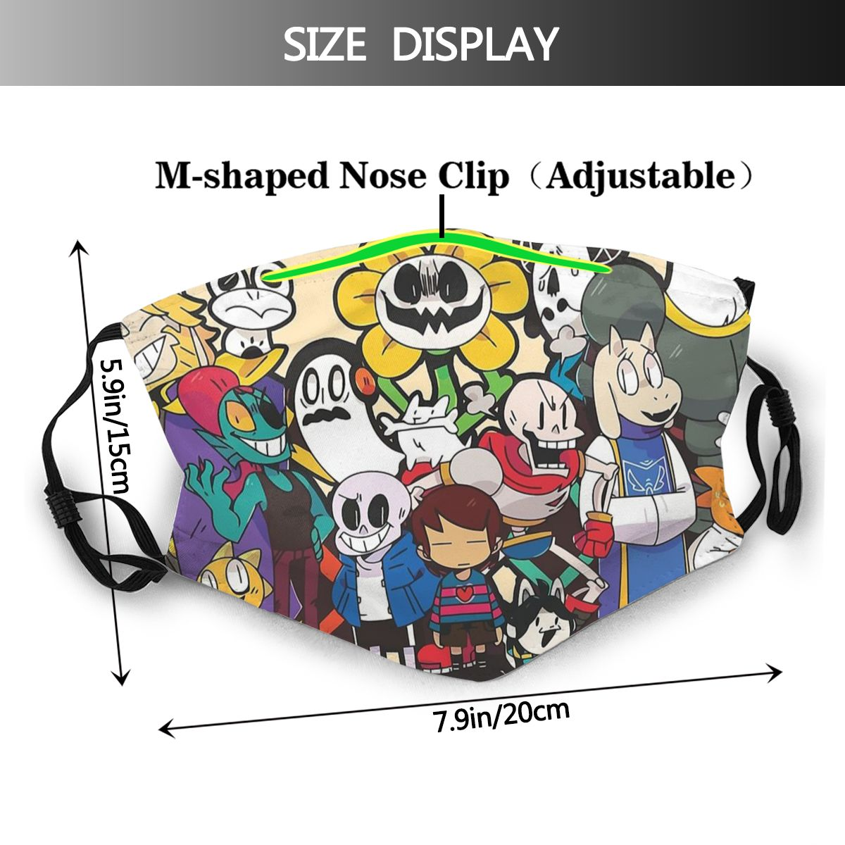 Undertale Non Disposable Mouth Face Mask Sans Dog Game Anti Haze Dustproof Protection Cover Respirator Muffle Mask With Filters Premiumflumasks